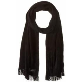カルバンクライン レディース マフラー・ストール・スカーフ アクセサリー Basic Wrap Knit Scarf Black