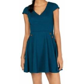 Pocket  ファッション ドレス City Triangles Teal Green Size 13 Junior Textured Pocket A-Line Dress