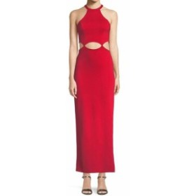 Red  ファッション ドレス Fame and Partners Womens Red Size 8 The Annalise Long Cutout Dress