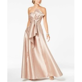 Adrianna Papell アドリアーナ パペル ファッション ドレス Adrianna Papell Womens Dress Brown Size 10 Draped Bow Mikado Gown