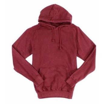 Red  ファッション トップス Oak & Rye Mens Red Size XL Solid Vintage Pullover Fleece Hooded Shirt