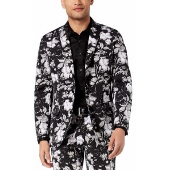 Blazer ブレザー ファッション フォーマル INC NEW Black Men Size Large L Floral Print Slim Two Button Blazer