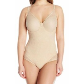Bali  スポーツ用品 フィットネス Bali Womens Shapewear Nude Beige Size 36C Body Suits Floral Lace Underwire #619