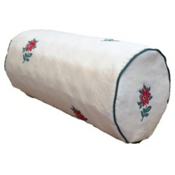 低反発 ボルスタークッション/腰枕 【14R×30cm グリーン】 洗えるカバー 『オロペサ』