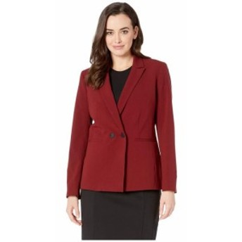 Nine West ナインウェスト 服 一般 Two-Button Peak Collar Double Breasted Jacket