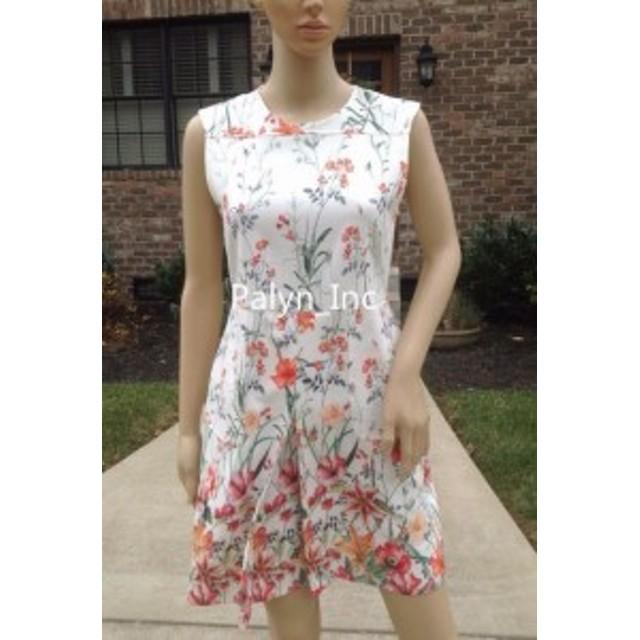 ファッション ドレス NWT ZARA WOMAN Cream FLORAL PRINTED DRESS PLEAT POCKETS 2717/786_size S