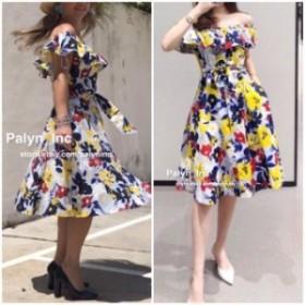 ファッション ドレス RARE! NWT_ZARA SS18 FLORAL PRINT LINEN DRESS OFF SHOULDER _S M L