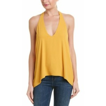 BCBGMAXAZRIA BCBG マックスアズリア ファッション 衣類 Bcbgmaxazria Drape-Back Blouse M Yellow