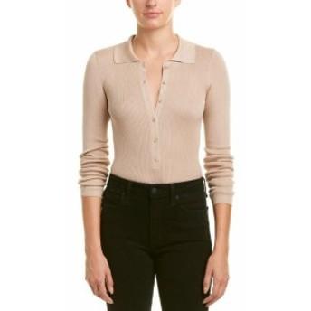 A.L.C.  ファッション トップス A.L.C. Ribbed Silk Top M Beige