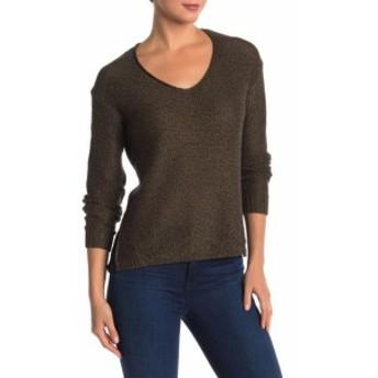 ファッション トップス RDI NEW Green Burnt Olive Womens Size XL V-Neck Knitted Solid Sweater #547
