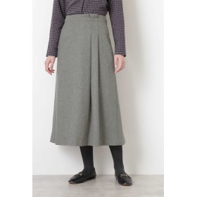 HUMAN WOMAN ヘリンボンツィードスカート ひざ丈スカート,グレー
