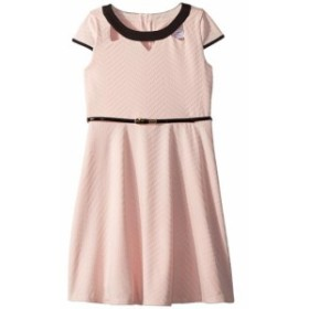 Us Angels ユーエスエンジェルズ ドレス 一般 Cap Sleeve Fit & Flare Textured Knit Dress with Cut Outs (Big Kids)