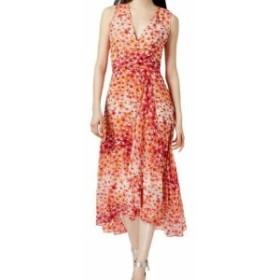 Calvin Klein カルバンクライン ファッション ドレス Calvin Klein Womens Pink Size 14 High Low Floral Midi Sheath Dress