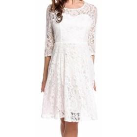 ファッション ドレス Zeagoo Womens White Size XXXL Plus Floral Lace Illusion Sheath Dress