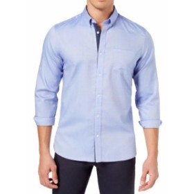 Calvin Klein カルバンクライン ファッション ドレス Calvin Klein Mens Dress Shirt Blue Size Large L Button Up Front Pocket