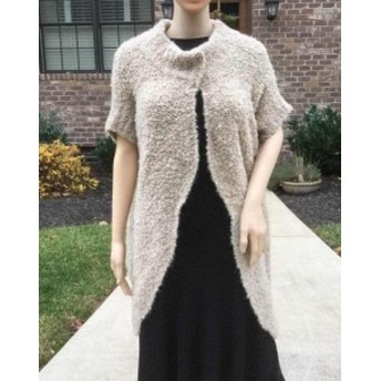 ファッション 衣類 Rare_NWT ZARA LONG CAPE SWEATER SAND JACKET CARDIGAN_ONE size M
