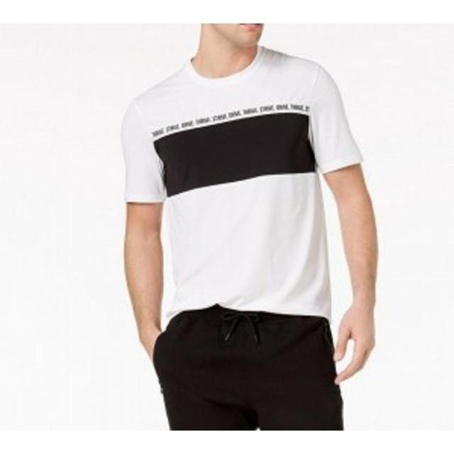 drive ドライブ ファッション トップス Ideology NEW White Mens XXL Strive Drive Thrive Colorblocked T-Shirt