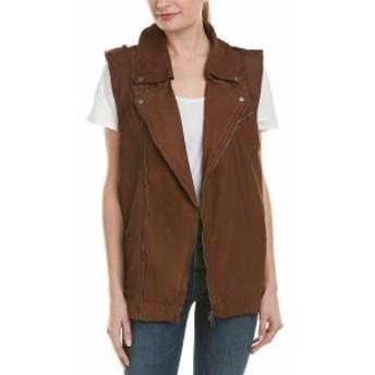 ファッション 衣類 Jakett Angela Nubuck Leather Vest S