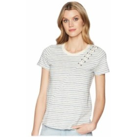 Lucky Brand ラッキーブランド 服 一般 Stripe Lace-Up Shoulder Tee