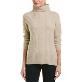 ファッション トップス Sofiacashmere Cable-Knit Turtleneck Cashmere Sweater S Brown