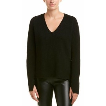 Helmut Lang ヘルムートラング ファッション トップス Helmut Lang Lace-Up Sleeves Wool & Cashmere-Blend Sweater Xs Black