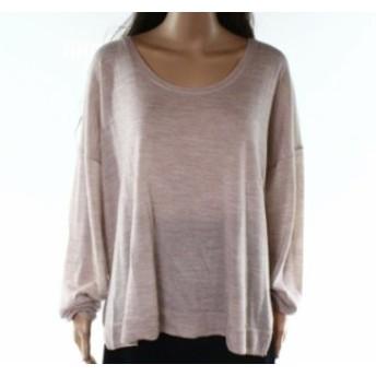 Madewell メイドウェル ファッション トップス Madewell Womens Beige Size Large L Ribbed Hem Scoop Neck Wool Sweater