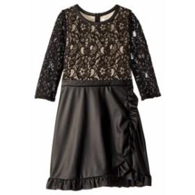 Us Angels ユーエスエンジェルズ ドレス 一般 Lace and Leather Dress (Big Kids)