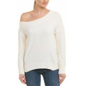 Three Dots スリー ドッツ ファッション トップス Three Dots Chenille Off-The-Shoulder Sweater Xs White