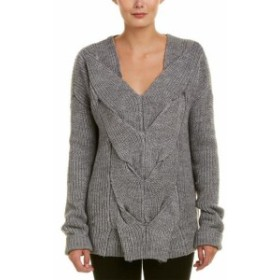 ファッション トップス Fate Braided Wool & Alpaca-Blend Sweater L