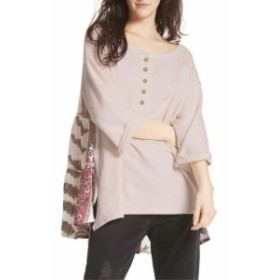 Free People フリーピープル ファッション トップス Free People Womens Beige Size XS Back Printed Pullover Sweater