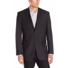 Blazer ブレザー ファッション フォーマル Adolfo Mens Blazer Charcoal Black Size 44 Regular Two Button Wool