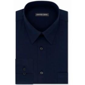 ファッション ドレス Geoffrey Beene NEW Blue Mens Size 14 1/2 Regular-Fit Stripe Dress Shirt