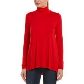 Three Dots スリー ドッツ ファッション トップス Three Dots Relaxed Top Xs Red