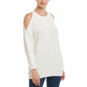 ファッション トップス Bishop & Young Cold-Shoulder Sweater M White