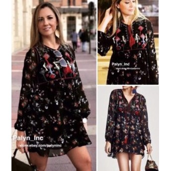ファッション ドレス RARE_NWT ZARA AW17 2017 BLACK EMBROIDERED DRESS WITH POMPOMS 7521/248_XS
