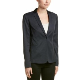 Blazer ブレザー ファッション フォーマル Elie Tahari Leather-Trim Blazer