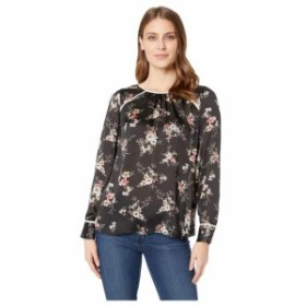 Vince Camuto ヴィンスカムート 服 一般 Long Sleeve Delicate Bouquet Mix Media Blouse