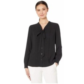 Anne Klein アンクライン 服 一般 Long Sleeve V-Neck Blouse with Bow