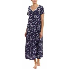 Carole Hochman キャロルホフマン ファッション ドレス Carole Hochman Womens Carol Hochman Floral Waltz Caftan S Blue