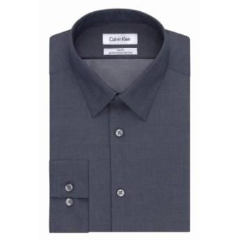 Calvin Klein カルバンクライン ファッション ドレス Calvin Klein NEW Gray Mens Size 15 1/2 Medium Slim Fit Dress Shirt