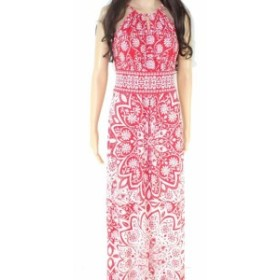 London Times ロンドンタイムズ ファッション ドレス London Times Womens Red Size 4P Petite Halter Floral Print Maxi Dress