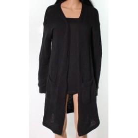 Vans バンズ ファッション トップス Vans NEW Black Velocity Knitted Womens Medium M Open Front Cardigan