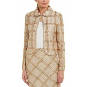 Blazer ブレザー ファッション 衣類 St. John Wool-Blend Blazer 4 Beige