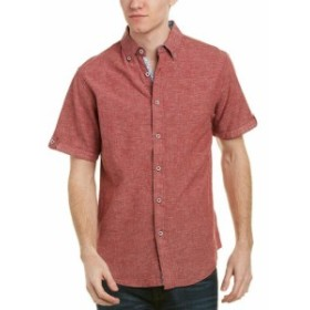 Red  ファッション アウター Age Of Wisdom Mens Marti Kat Summer Weight Woven Shirt S Red