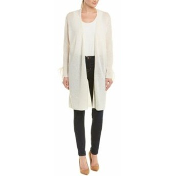 IN Cashmere インカシミア ファッション トップス In Cashmere Tie-Sleeve Cardigan M White