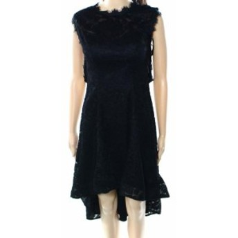 Betsy & Adam ベッツィアンドアダム ファッション ドレス Betsy & Adam NEW Black Lace Open Back Womens Size 8 A-Line Dress