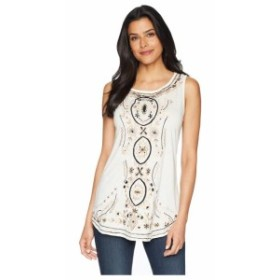 Scully スカリー 服 一般 Bethia Classy Embroidered Tank with Sewn On Stone Accents