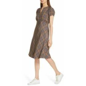 Nordstrom ノードストローム ファッション ドレス Nordstrom Signature NEW Beige Womens Size 10 Plaid V-Neck Sheath Dress