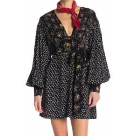 Free People フリーピープル ファッション ドレス Free People Womens Dress Black Size Large L Sheath Floral Print