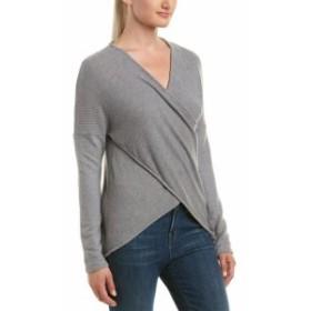 Three Dots スリー ドッツ ファッション トップス Three Dots Brushed Crossover Sweater S Grey